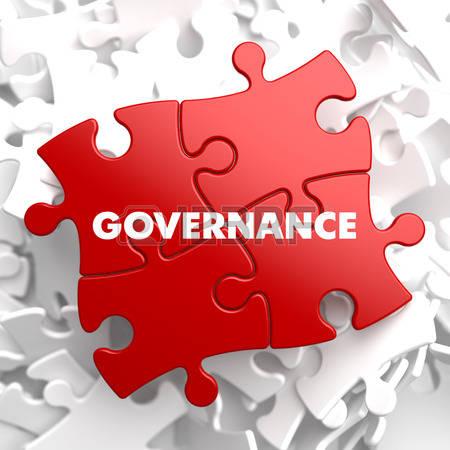 38497006-governance-su-puzzle-rossa-su-sfondo-bianco