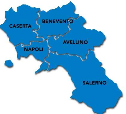 Mappa provincia di Salerno finale