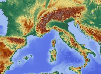 Cartina Italia-Green Style