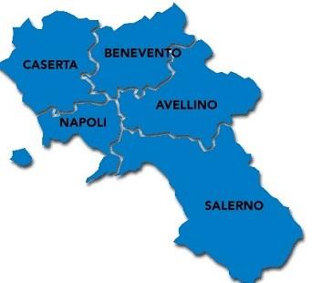Numeri Economia -Mappa provincia di Salerno