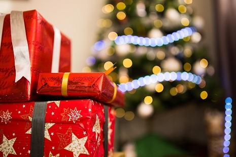 Immagine shopping di Natale
