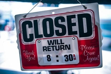 Foto negozio chiuso